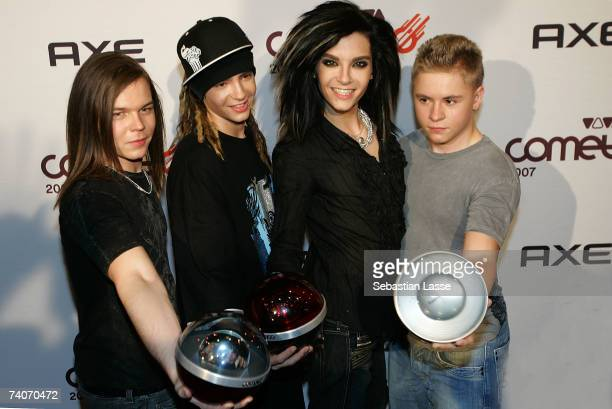 Band Tokio Hotel Georg Listing Tom Kaulitz Bill Kaulitz Gustav Schaefer were awarded in the categories Best band Best video and Supercomet and...