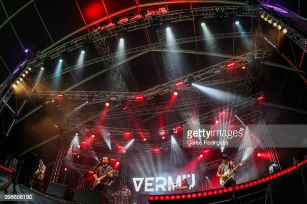 Band Vermu performs during Day 1 of NOS Alive Festival 2018 on July 12 2018 in Lisbon Portugal