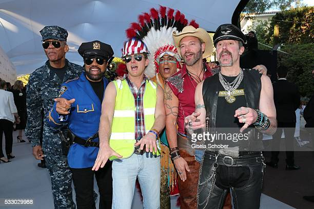 Band Village People attends the amfAR 's 23rd Cinema Against AIDS Gala at Hotel du CapEdenRoc on May 19 2016 in Cap d'Antibes France