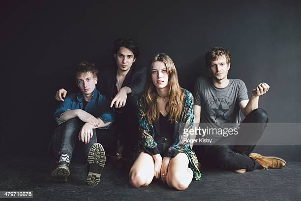 Band Wolf Alice poses for a portrait backstage at The FADER FORT Presented by Converse during SXSW on March 19 2015 in Austin Texas