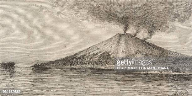 Banda Api volcano Banda Islands drawing by Hubert Clerget from The Malay Archipelago 18611862 by Alfred Russell Wallace from Il Giro del mondo...