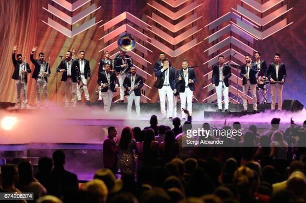 Banda Sinaloense MS de Sergio Lizárraga performs onstage at the Billboard Latin Music Awards at Watsco Center on April 27 2017 in Coral Gables Florida