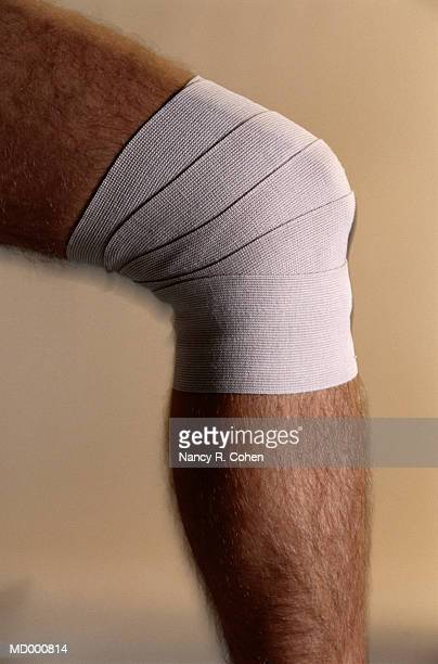 Bandage on a Sprained Knee