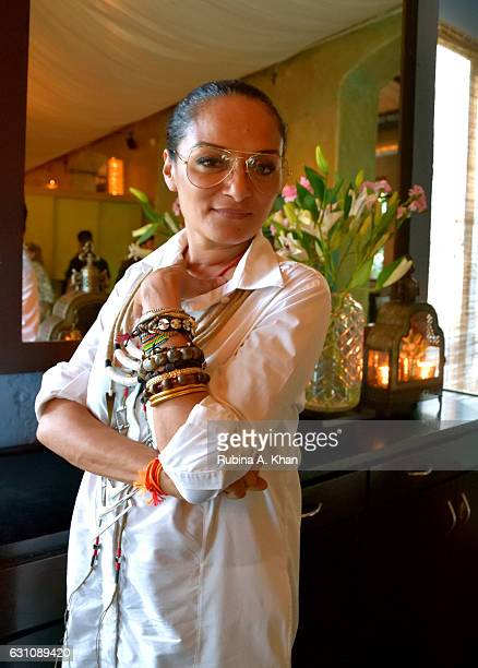 Bandana Tewari EditoratLarge Vogue India at the hightea hosted by her and Anita Lal of Good Earth for Suzy Menkes International Vogue Editor at Good...