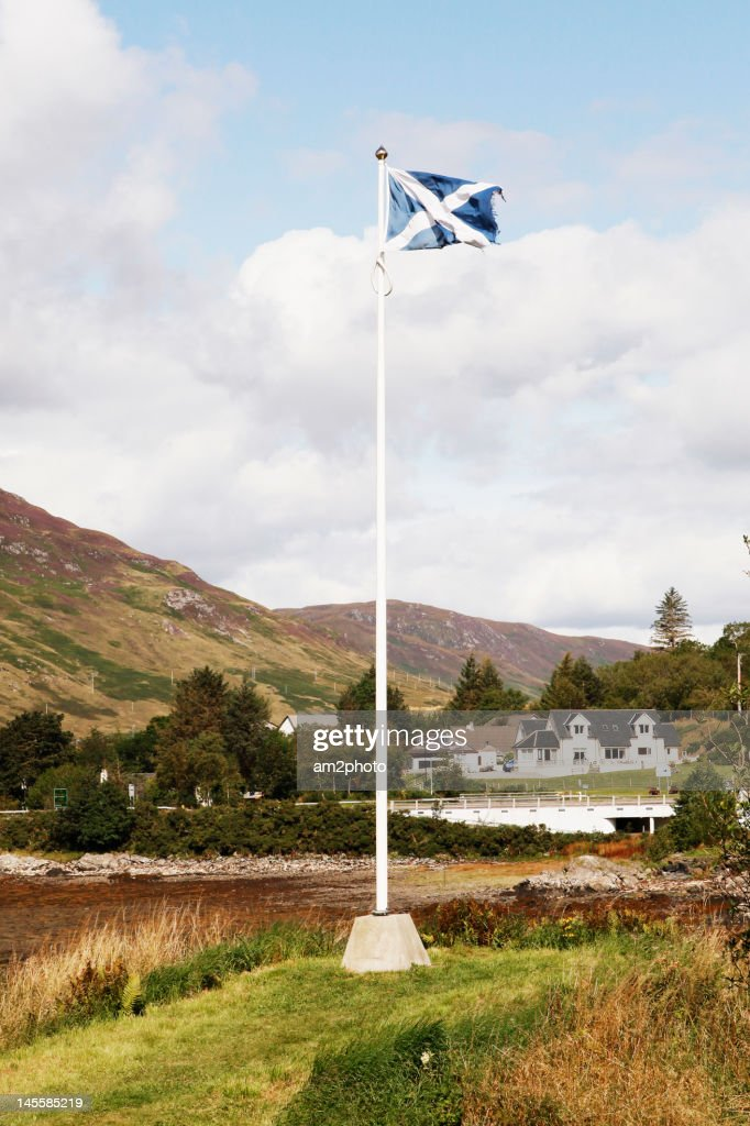 Bandera escocesa Highlands : Stock-Foto