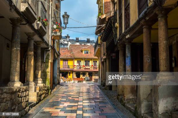 Bandes Cándamo street in the old town of Aviles, Asturias, Spain