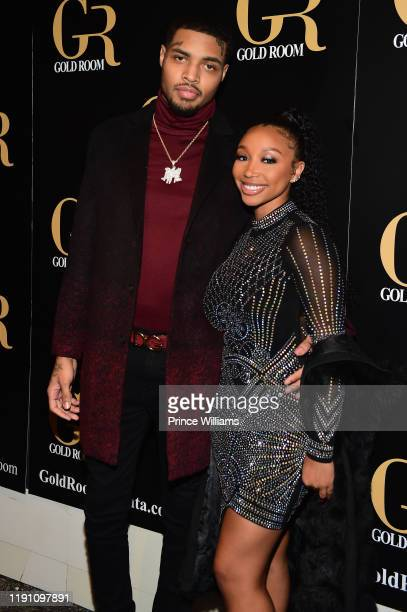 Bandhunta Izzy and Zonnique Pullins attend the All Black Birthday Celebration at Gold Room on November 30, 2019 in Atlanta, Georgia.