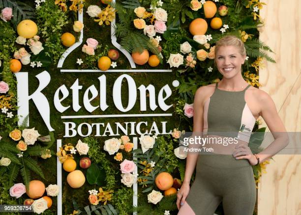 Bandier Fitness Instructor Amanda Kloots teaches The Body at the Launch of Ketel One Botanical on May 16 2018 in New York City
