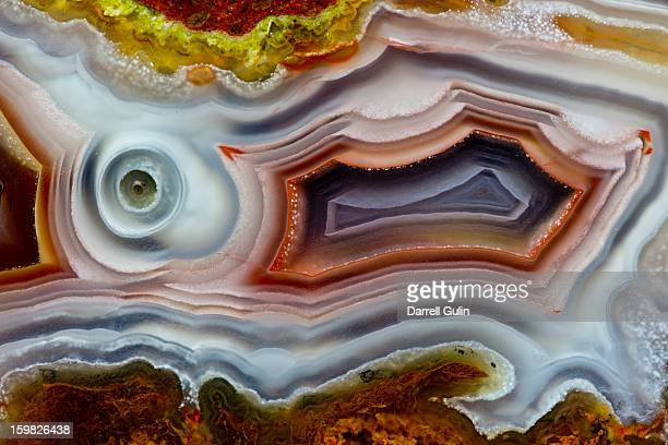 banding pattern agua nueva agate, mexico - agate stock pictures, royalty-free photos & images