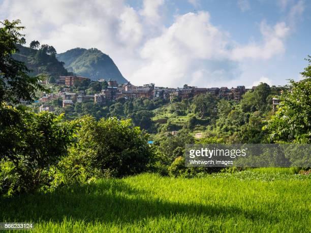 Bandipur village on ridge in Tanahun, Nepal