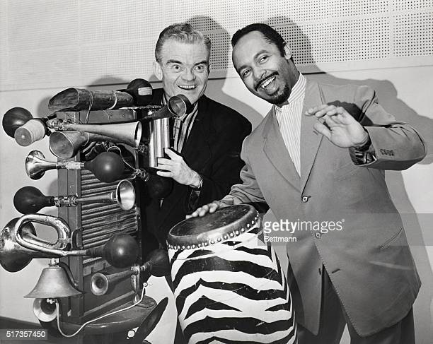 Bandleader/Comedian Spike Jones with bandleader Damaso Perez Prado Undated photograph from the INP print file Credit BettmannUPI