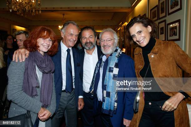 Bandmaster JeanClaude Casadesus President of Lagardere Active and CEO of 'Europe 1' Denis Olivennes actor of the piece Bernard Murat and Ines de la...