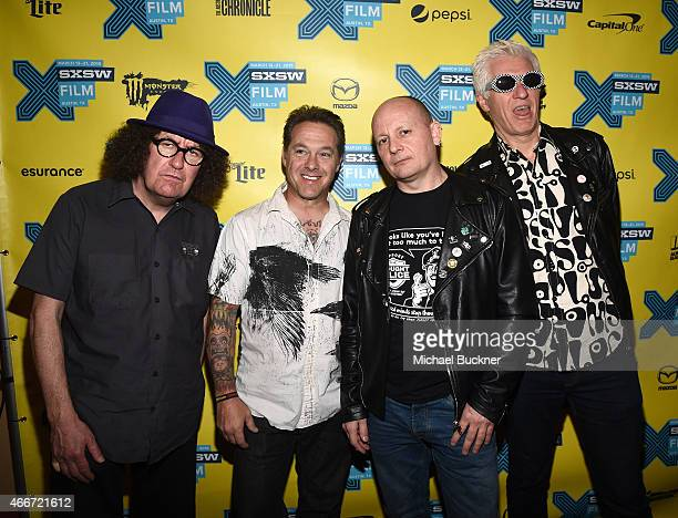 Bandmembers Monty Oxymoron David Varnian Andrew 'Pinch' Pinching and Captain Sensible attend THE DAMNED Don't You Wish That We Were Dead' screening...