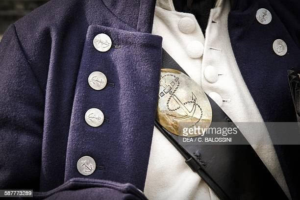 Bandoleer and waistcoat of an infantryman from the British Navy United Kingdom 19th century Historical reenactment