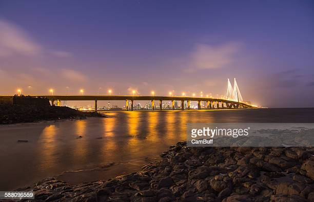 bandra-worli sea link, mumbai, maharashtra - mumbai stock pictures, royalty-free photos & images