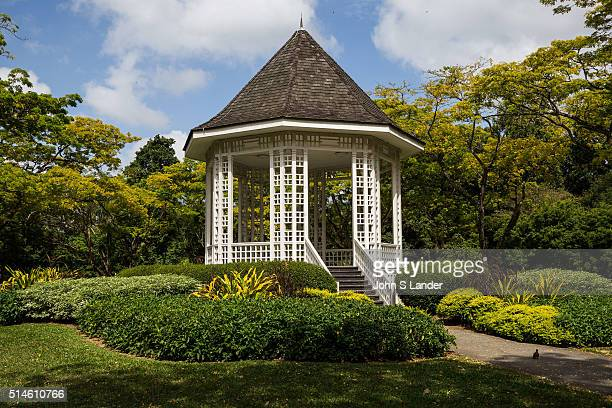 Bandstand at Singapore Botanic Garden The octagonal gazebo was erected in 1930 Although no longer used for music performances it is a favorite...