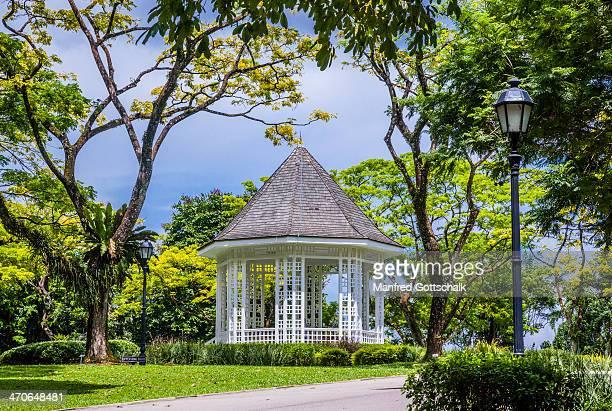 bandstand singapore botanic gardens - singapore botanic gardens stock photos and pictures