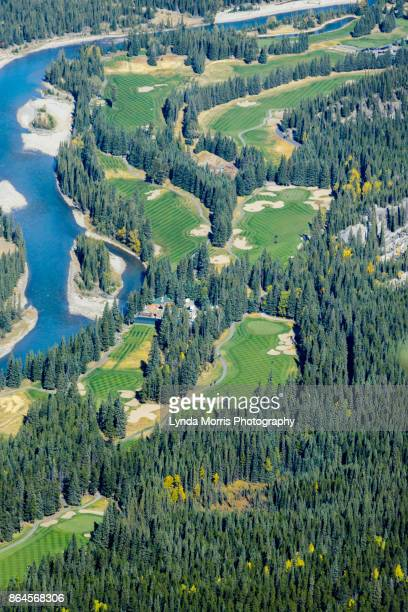 banff, canada- golf course - banff springs golf course stock photos and pictures