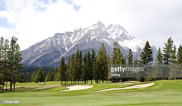 banff golf course 4 - banff springs golf course stock photos and pictures