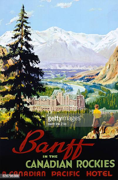 Banff in the Canadian Rockies Poster by Trompf