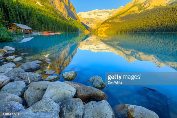 banff national park in alberta canada - lake louise stock pictures, royalty-free photos & images