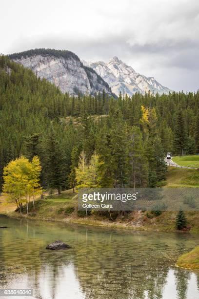 banff springs golf course, banff national park - banff springs golf course stock photos and pictures