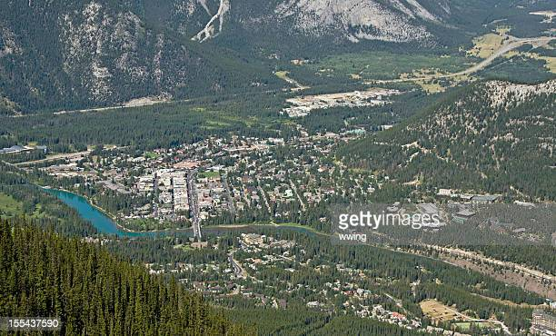 Banff Town  and the Bow River