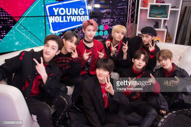Bang Chan Changbin Felix HAN Hyunjin IN Lee Know and Seungmin from KPop group Stray Kids at the Young Hollywood Studio on February 11 2019 in Los...