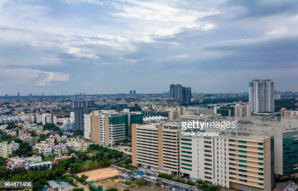 bangalore city overview - buildings - bangalore stock pictures, royalty-free photos & images