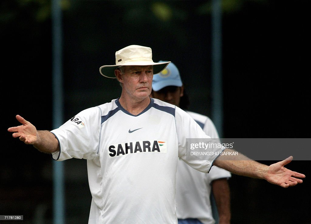 Indian cricket coach Greg Chappell demon : News Photo