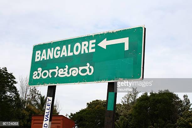 Bangalore roadsign, India