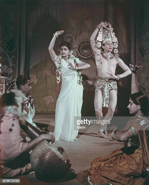 Bangaloreborn British dancer Ram Gopal performing with a dance partner and Indian musicians 1948
