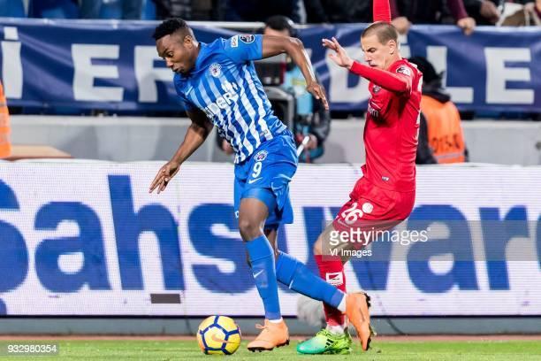 BangalyFodé Koita of Kasimpasa AS Milan Jevtovic of Antalyaspor AS during the Turkish Spor Toto Super Lig match between Kasimpasa AS and Antalyaspor...