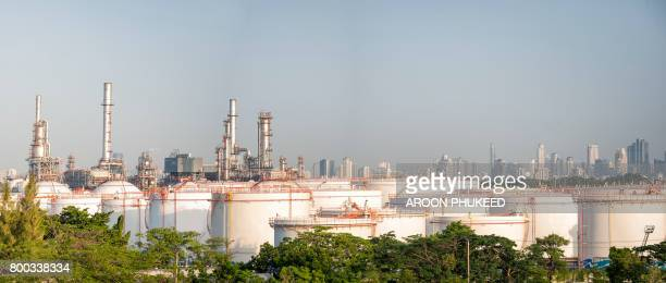 Bangchak Oil Refinery at day time