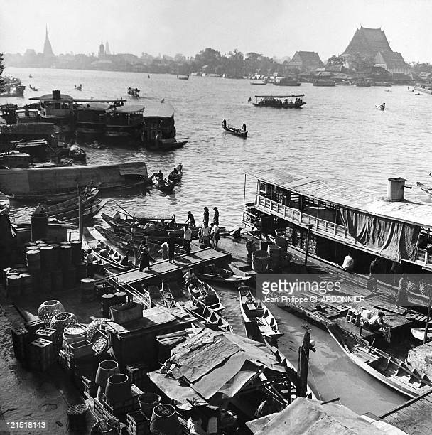 Bangkok And Daily Activities On The River Menam In The 1950'S