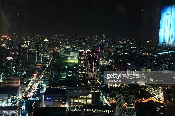 bangkok at night - yasir nisar stock photos and pictures