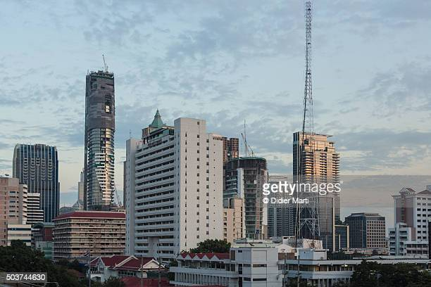 bangkok business district - didier marti stock photos and pictures