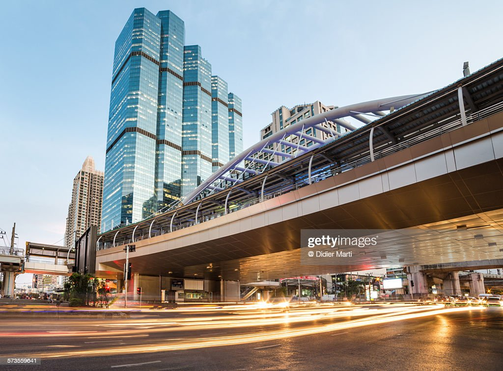 Bangkok business district : ストックフォト