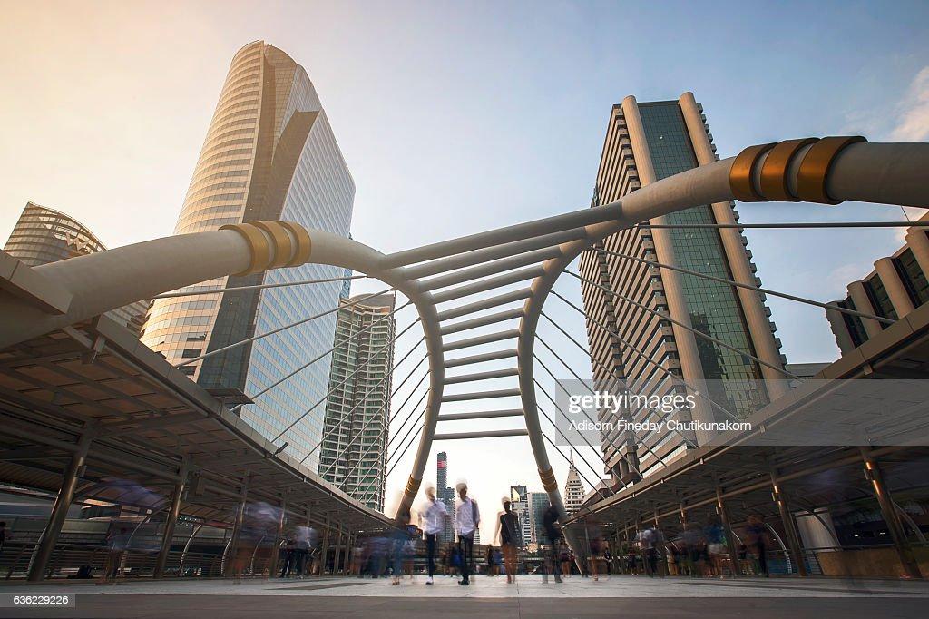 Bangkok business district : Stock Photo