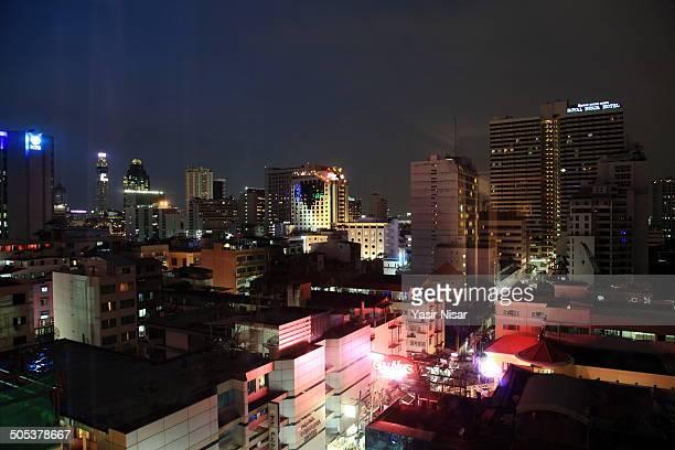 bangkok by night - yasir nisar stock photos and pictures