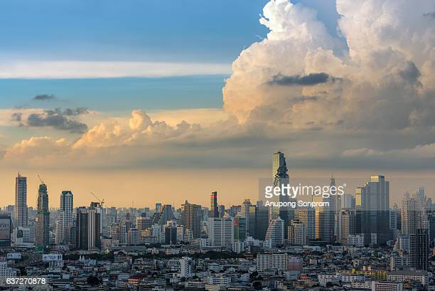 Bangkok city and sunrise ,Thailand
