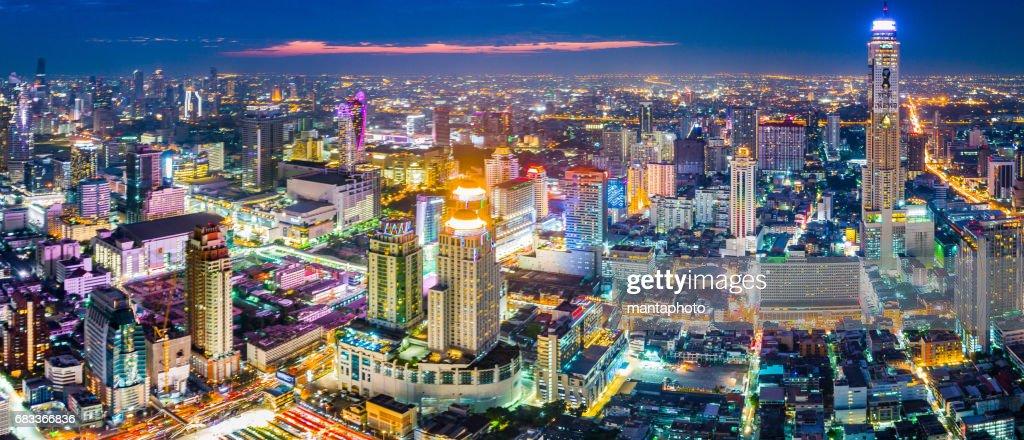 Bangkok city at twilight : Stock Photo