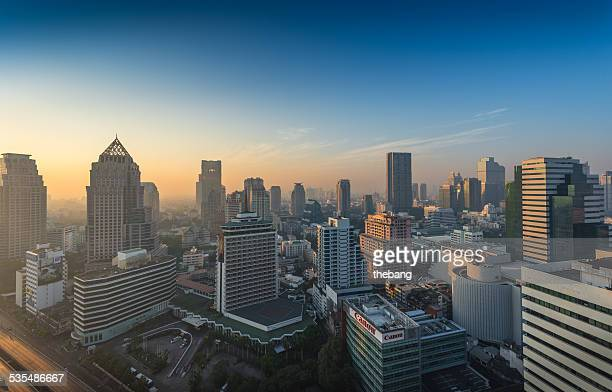 Bangkok city view at morning