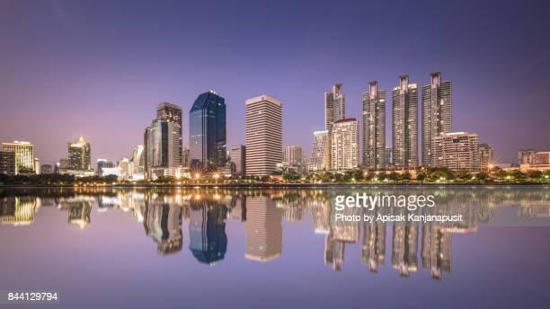 Bangkok Cityscape and reflection