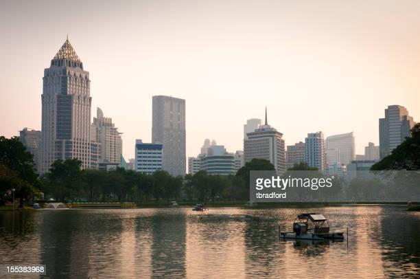 Bangkok Cityscape And Sunset