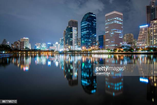 Bangkok Cityscape at Business district area with high building, Bangkok, Thailand