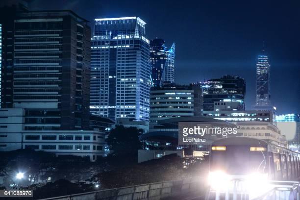 Bangkok cityscape, downtown district skyline