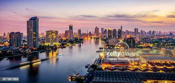 bangkok cityscape - bangkok stock pictures, royalty-free photos & images
