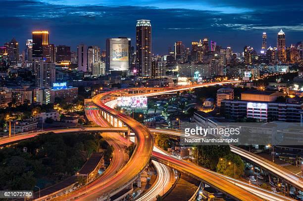 Bangkok express way nightscape