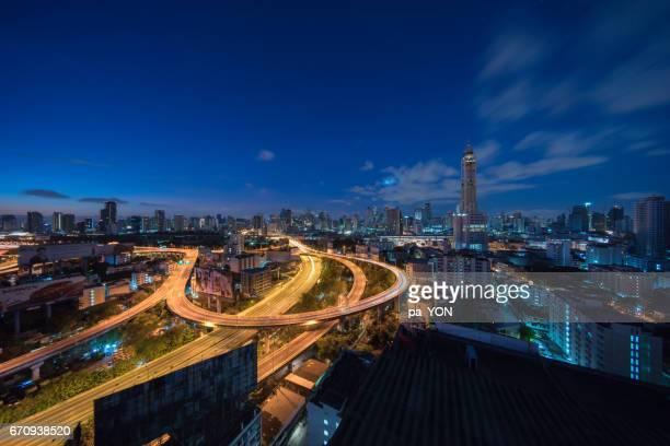 Bangkok expressway in the morning